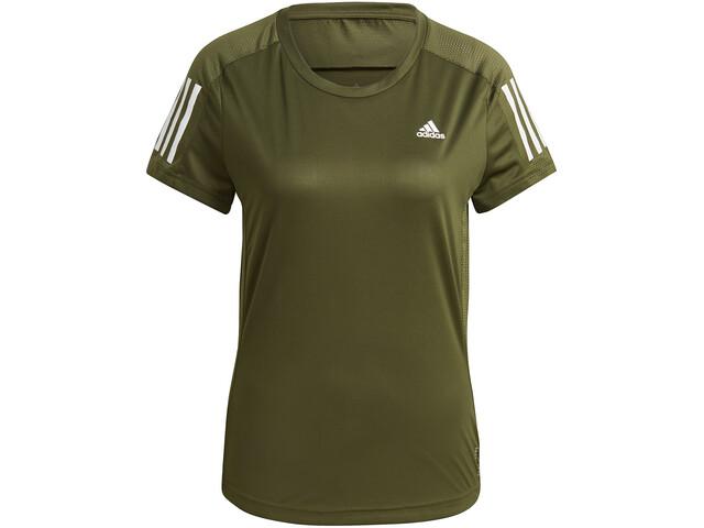 adidas OWN The Run Kurzarm T-Shirt Damen wild pine